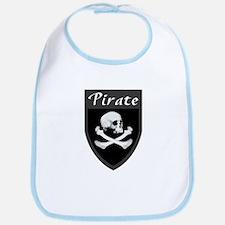 Pirate Grey Patch Bib