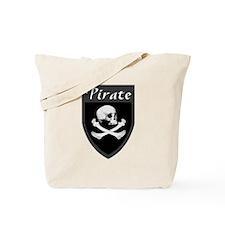 Pirate Grey Patch Tote Bag