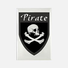 Pirate Grey Patch Rectangle Magnet