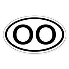 OO - Initial Oval Oval Decal