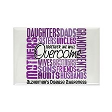 Family Square Alzheimer's Rectangle Magnet