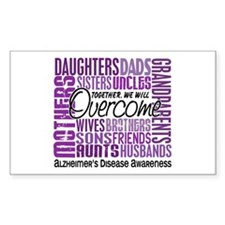 Family Square Alzheimer's Decal