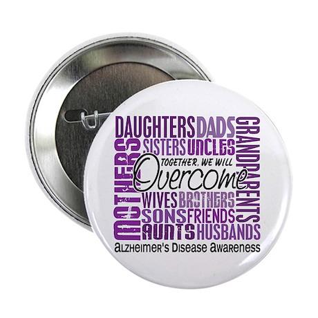 "Family Square Alzheimer's 2.25"" Button (10 pack)"