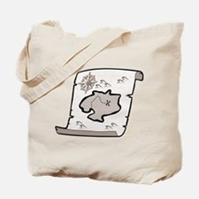 Pirate Treasure Map Tote Bag