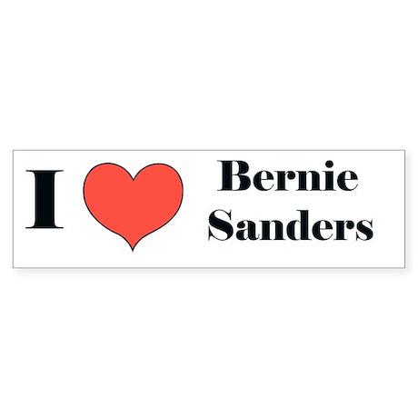 I (heart) Bernie Sanders Bumper Sticker