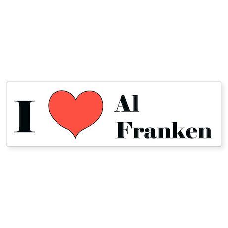 I (heart) Al Franken Bumper Sticker