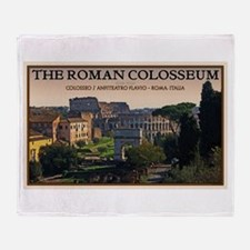 Colosseum from Forum Throw Blanket