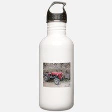 Red Tractor and Dirt Wall Water Bottle