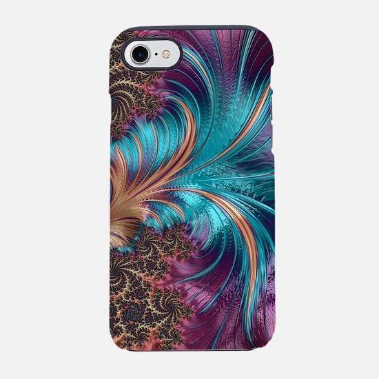 Blue Purple Feather Fractal Ar iPhone 7 Tough Case