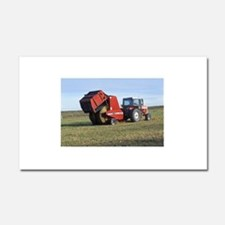 Tractor Making Hay Car Magnet 12 x 20