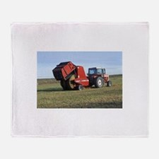 Tractor Making Hay Throw Blanket