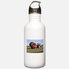 Tractor Making Hay Water Bottle
