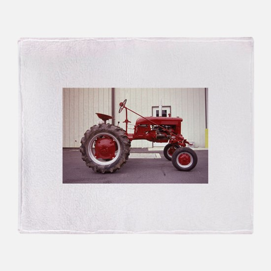 Ole Red Tractor Throw Blanket