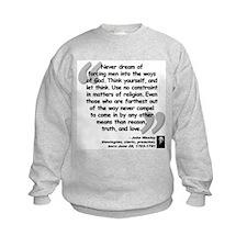 Wesley Religion Quote Sweatshirt