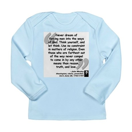 Wesley Religion Quote Long Sleeve Infant T-Shirt