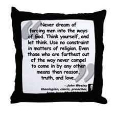 Wesley Religion Quote Throw Pillow
