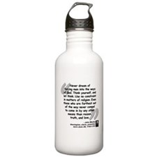 Wesley Religion Quote Water Bottle