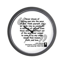 Wesley Religion Quote Wall Clock