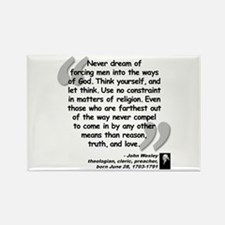 Wesley Religion Quote Rectangle Magnet