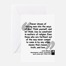 Wesley Religion Quote Greeting Card