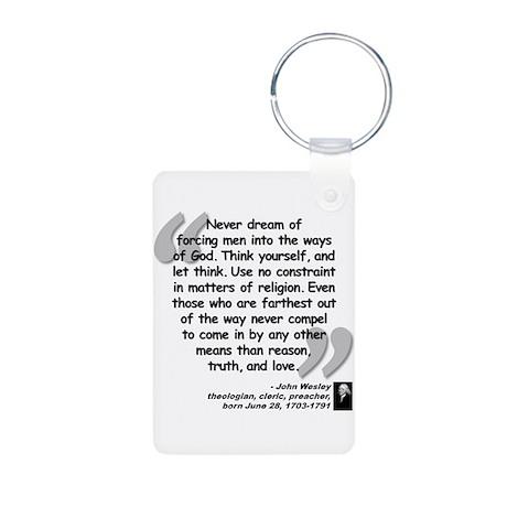 Wesley Religion Quote Aluminum Photo Keychain