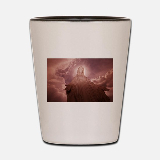 Blessed Mother Mourning Shot Glass