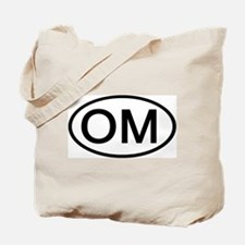 OM - Initial Oval Tote Bag
