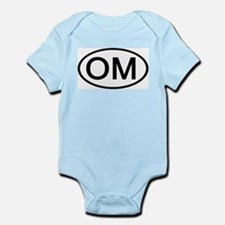 OM - Initial Oval Infant Creeper