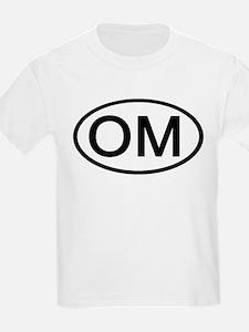 OM - Initial Oval Kids T-Shirt