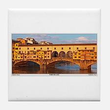 Ponte Vecchio Tile Coaster