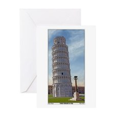 The Leaning Tower Greeting Card