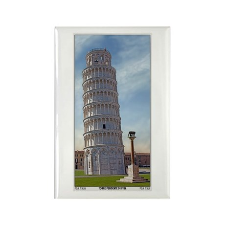 The Leaning Tower Rectangle Magnet