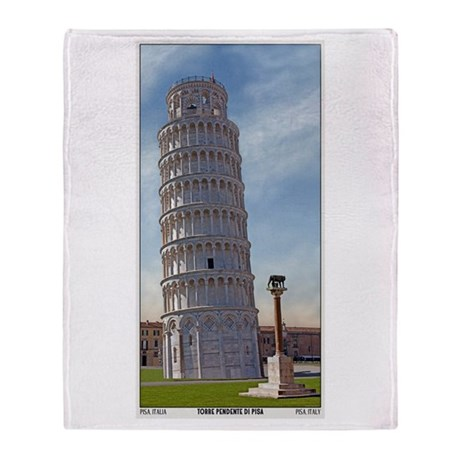 The Leaning Tower Throw Blanket