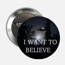 """I Want to Believe 2.25"""" Button"""