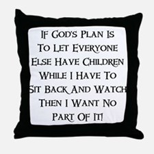 God's Plan Throw Pillow