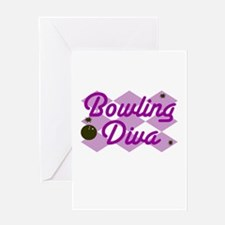 Bowling Diva Greeting Card