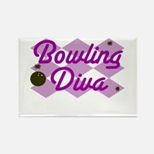 Bowling Diva Rectangle Magnet