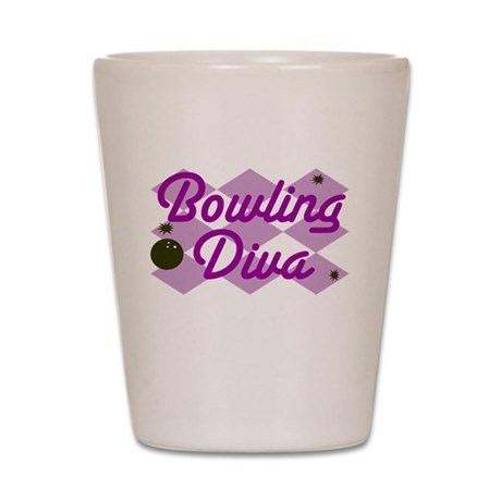 Bowling Diva Shot Glass