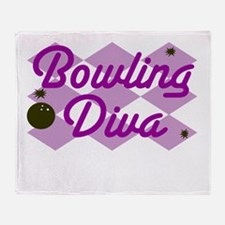 Bowling Diva Throw Blanket