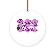 Bowling Diva Ornament (Round)