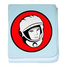 Yuri Gagarin Icon baby blanket