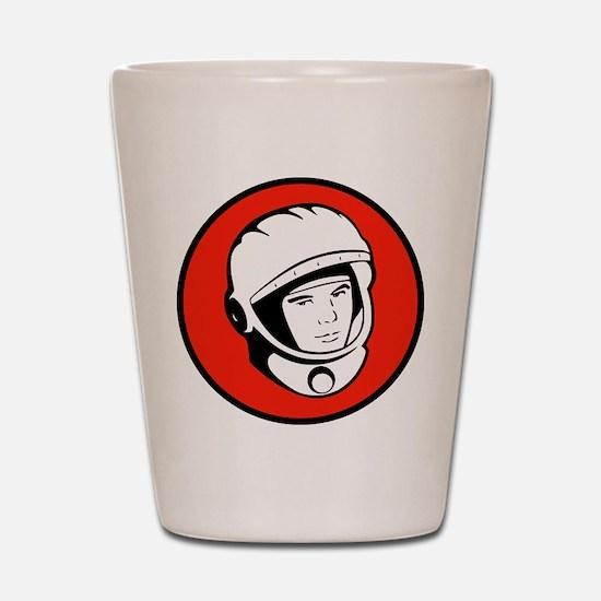 Yuri Gagarin Icon Shot Glass