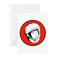 Yuri Gagarin Icon Greeting Card
