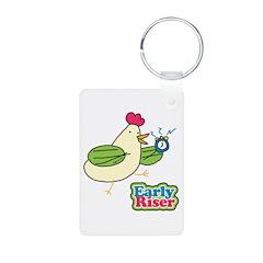 Early Riser Chicken Keychains