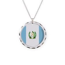 Cool Guatemalan flag designs Necklace Circle Charm