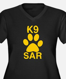 K9 SAR Women's Plus Size V-Neck Dark T-Shirt