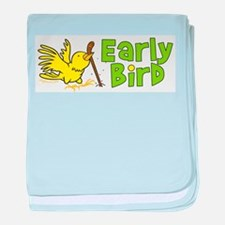 Early Bird baby blanket