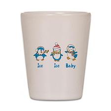Ice Ice Baby Penguins Shot Glass
