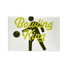 Bowling king Rectangle Magnet