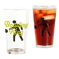 Bowling king Drinking Glass